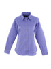 Uneek Ladies 140GSM Pinpoint Oxford Full Sleeve Shirt UC703 mid blue