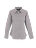 Uneek Ladies 140GSM Pinpoint Oxford Full Sleeve Shirt UC703 silver grey