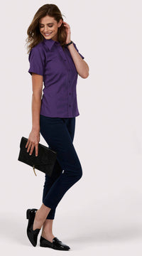 Uneek Ladies 120GSM Poplin Half Sleeve Shirt UC712