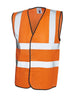 Uneek Sleeveless Safety Hi Vis Waist Coat UC801 orange