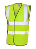 Uneek Sleeveless Safety Hi Vis Waist Coat UC801 yellow