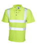 Uneek 250GSM HI-Vis Polo Shirt UC805 yellow