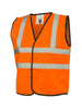 Uneek Childrens Hi-Vis Waist Coat vest UC806 orange