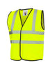 Uneek Childrens Hi-Vis Waist Coat vest UC806 yellow