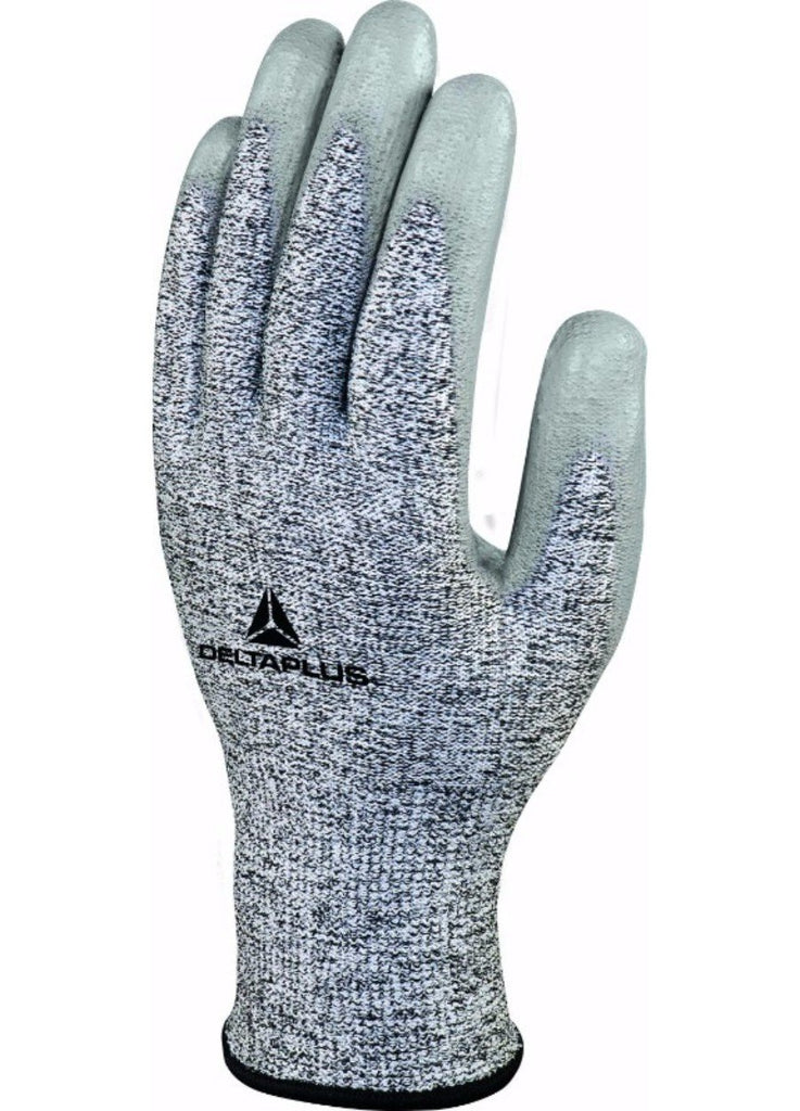 Delta Plus Knitted Deltanocut® Glove PU Coating Palm x3 Pairs Gauge13 VENICUT58  Grey