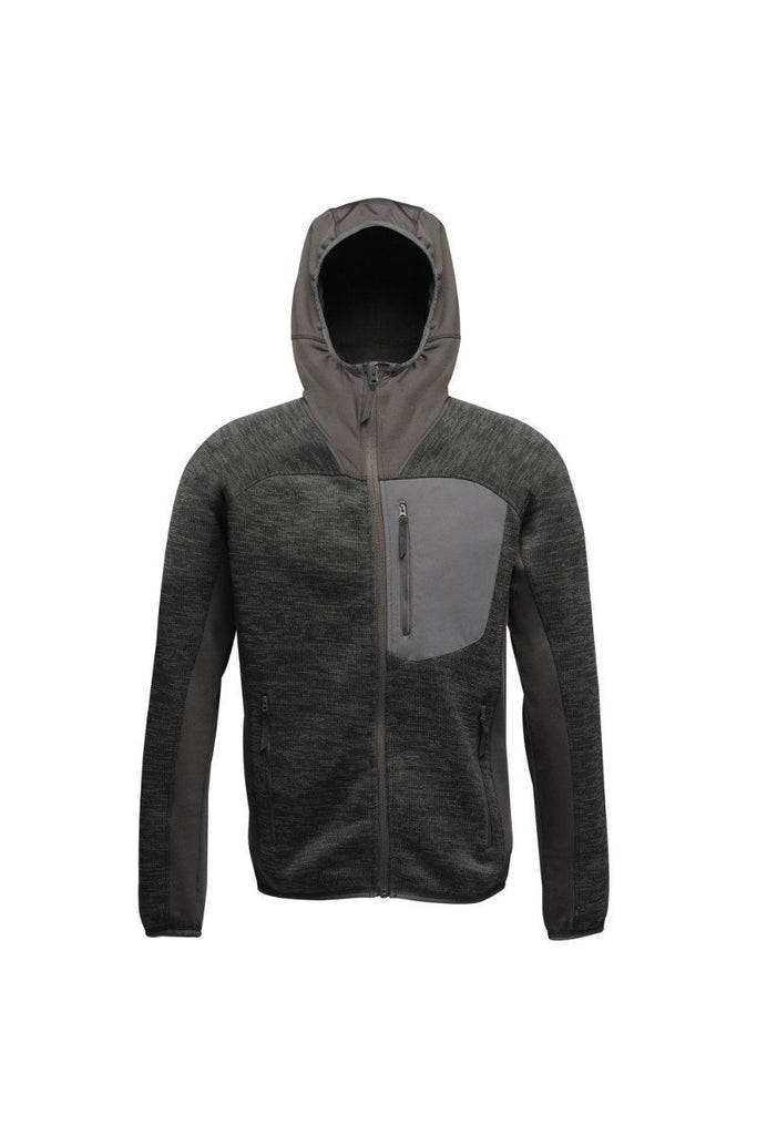 Regatta Men's Coldspring Stretch Hybrid Hooded Fleece Jacket TRF586 Ash Grey