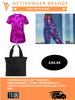 TriDri® Hexoflage™ Women's Performance T-Shirt, Fireworks 3/4 Length Leggings & Camo Shoulder / Tote Bag
