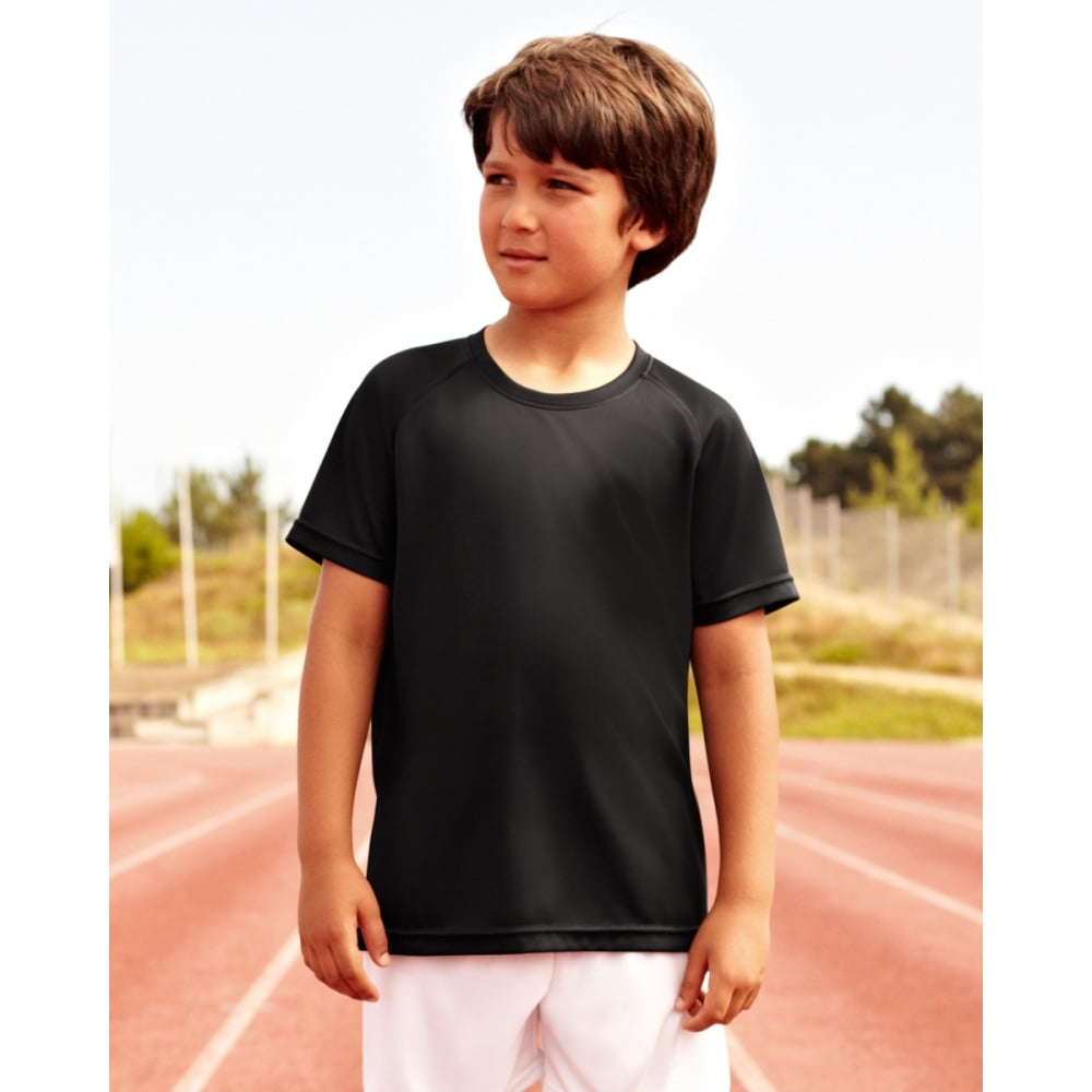 Fruit Of The Loom Children's Performance T-Shirt 61013 lifestyle image black