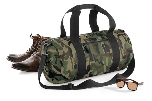 Bagbase Camo Barrel Bag BG173