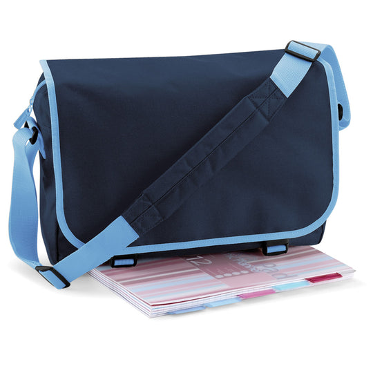 Bagbase Messenger Bag BG21 French Navy Sky Blue