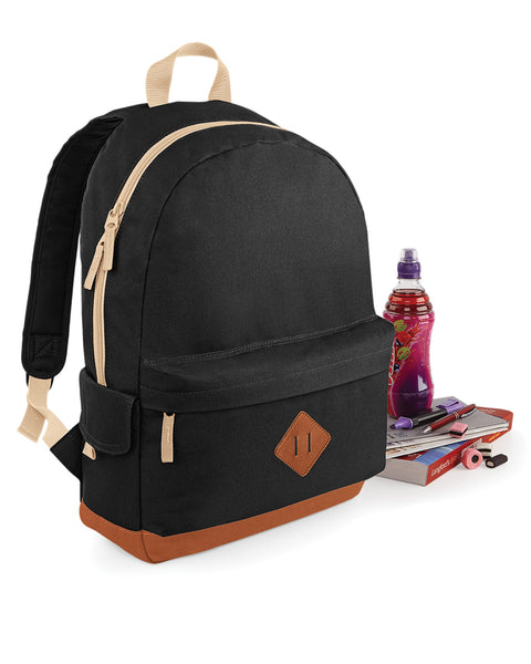 Bagbase Heritage Backpack BG825 Black
