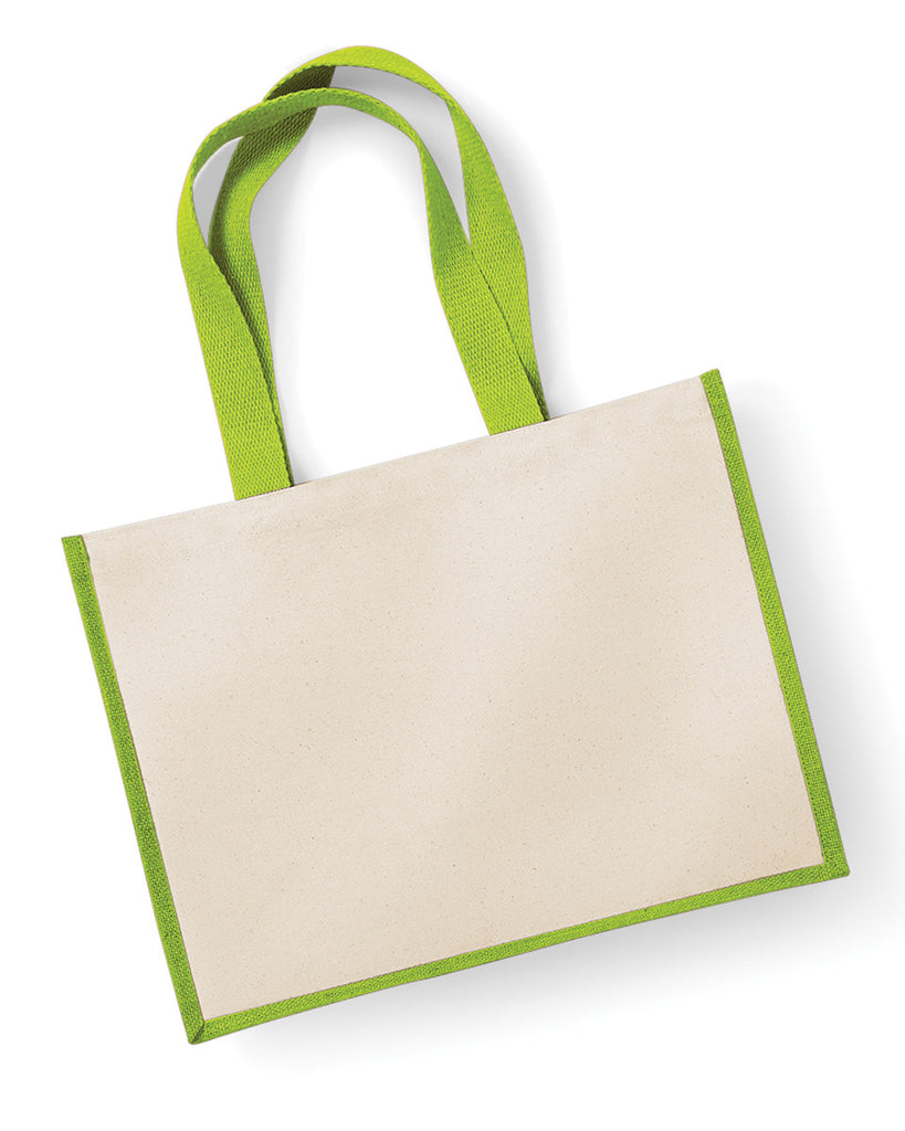 Westford Mill Printers Jute Cot Shopper W422 Apple Green