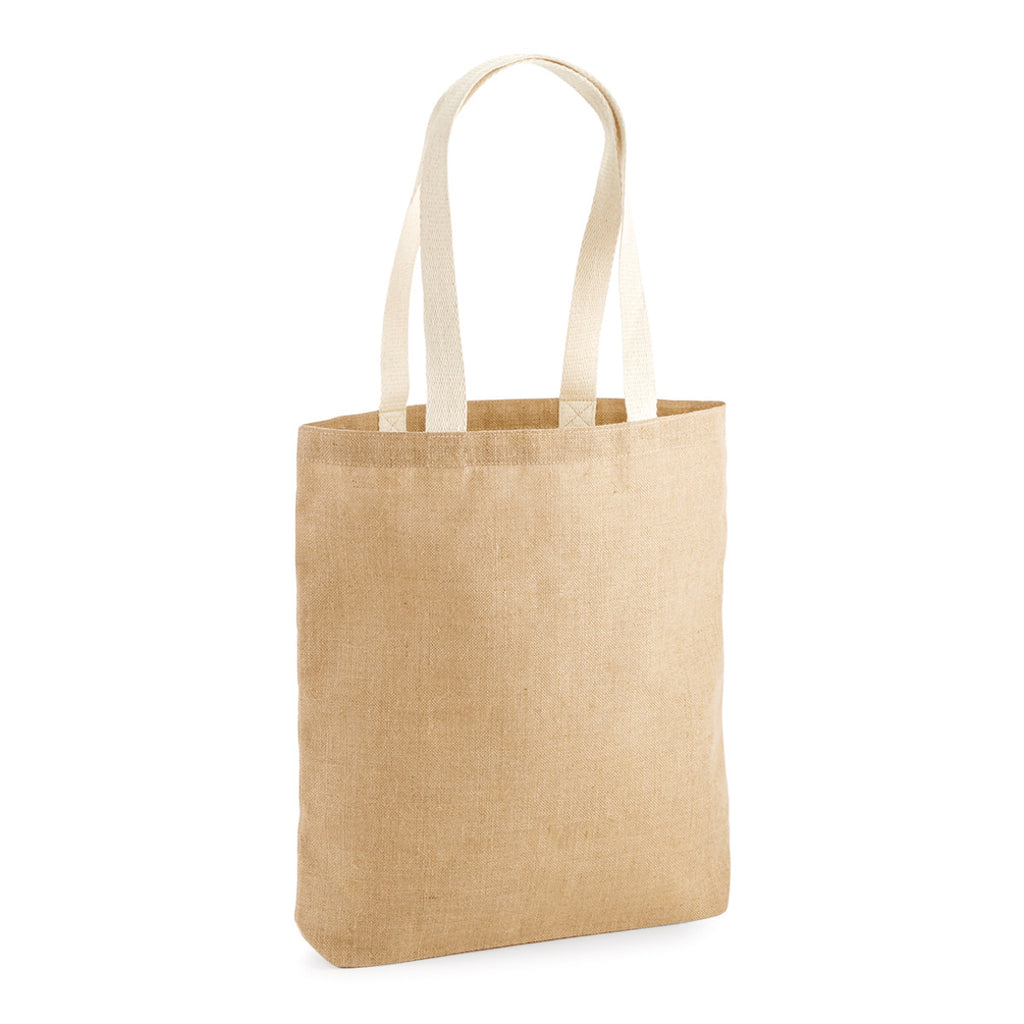 Westford Mill Unlaminated Jute Tote W455 Natural