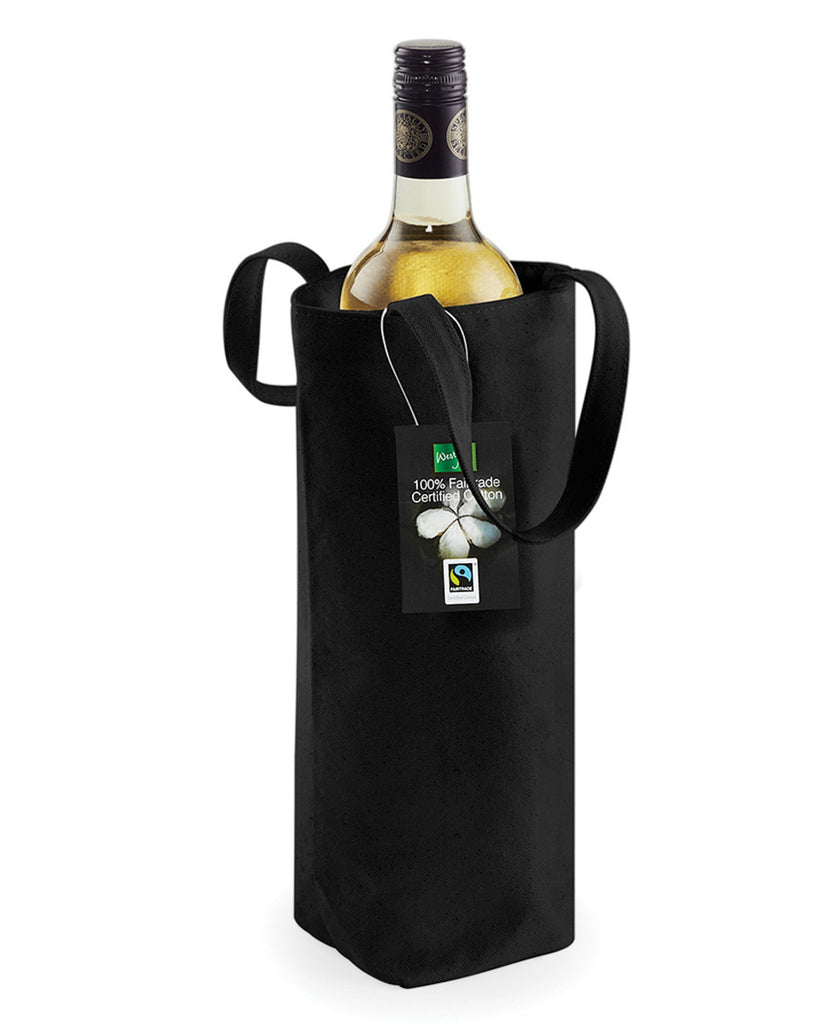 Westford Mill Cotton Bottle Bag W620 Black