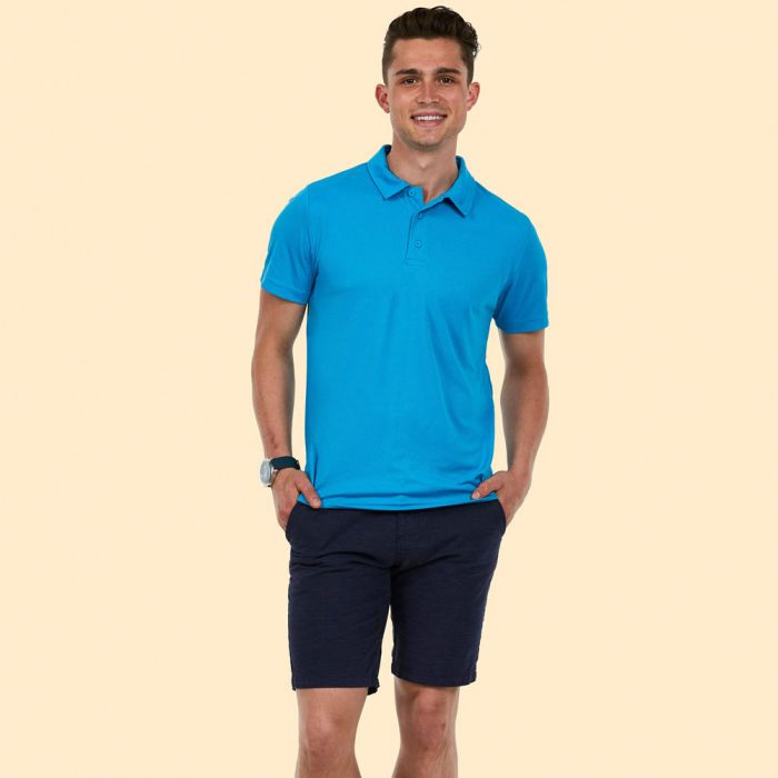 Uneek 140GSM Ultra Cool Polo Shirt UC125 lifestyle image sapphire blue