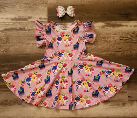 """Baby Shark"" swing dress"