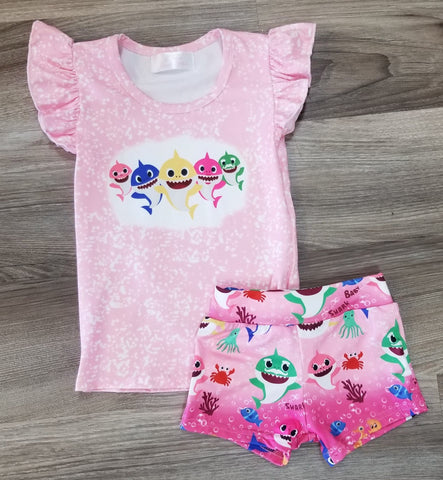 Baby Shark Shorties Set