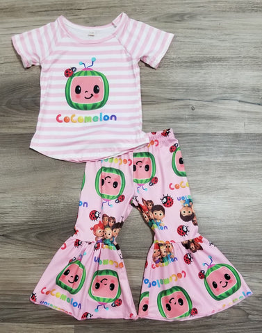 Pink Cocomelon Bell Bottom Set