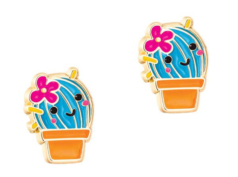 Cactus flower earrings