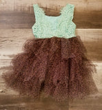 Mint Lace Cheetah Dress