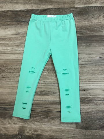 Mint ripped leggings