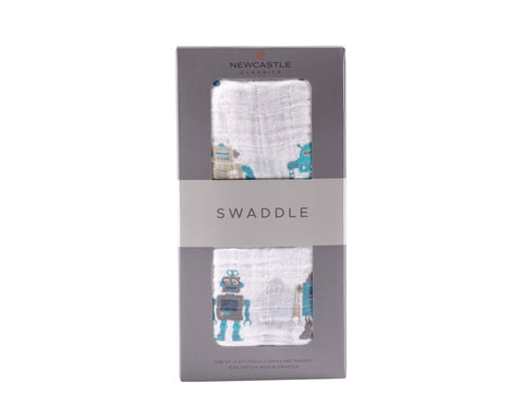 Cotton Muslin Swaddle (multiple patterns available)