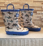Shark loop handle rain boots