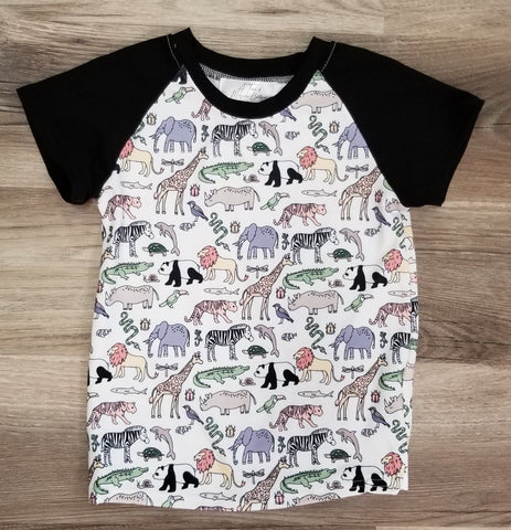 Boys Zoo top