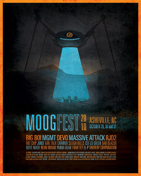 Signed by Clare and the Reasons Official 2010 Moogfest Festival Poster