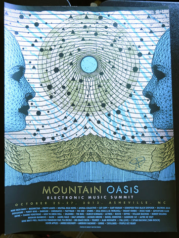 Official Mountain Oasis Electronic Music Summit 2013 Festival Poster - Signed by Adam Deitch