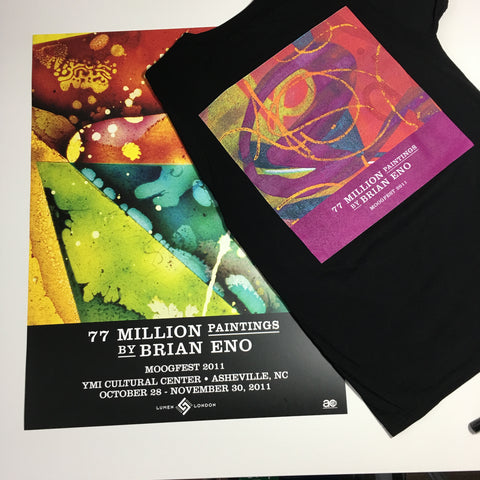 "Brian Eno ""77 Million Paintings"" T-Shirt & Poster Bundle"