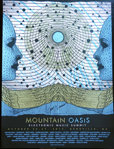 Official Mountain Oasis Electronic Music Summit 2013 Festival Poster - Signed by Gary Numan