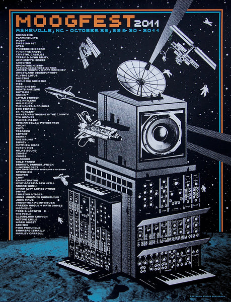 Official Moogfest 2011 Festival Poster - Signed by Tobacco