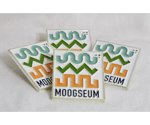 Moogseum Commemorative White Enamel Pin