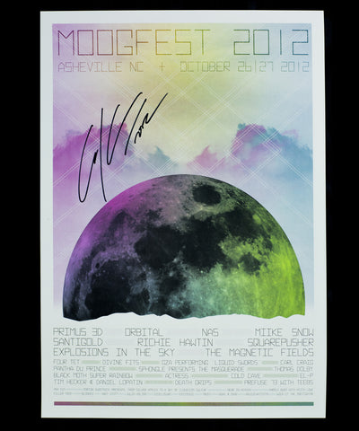 Official Moogfest 2012 Festival Poster - Signed by Carl Craig