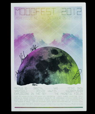 Signed by Magnetic Fields Official Moogfest 2012 Festival Poster