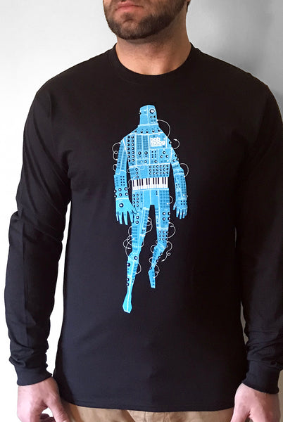 Modular Robot T-Shirt - Men's Long-Sleeve