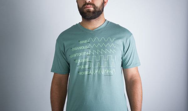 Sage Green Waveform T-shirt - Men's