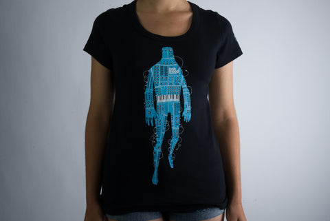Robot T-Shirt - Ladies <br> <br>