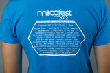 Moogfest 2012 Ladies Blue Circuits T-shirt - CLEARANCE