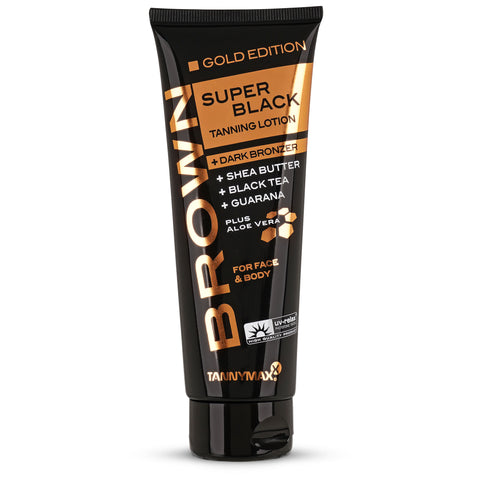 Super Black Gold Edition Tanning Lotion + Dark Bronzer