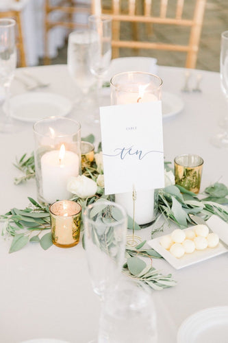 Wedding Table Numbers / Navy and White