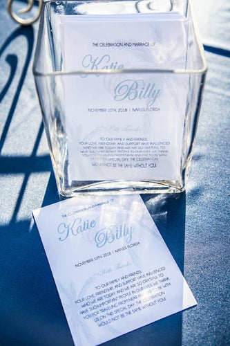 Beach Themed Wedding Programs / Designation Wedding Programs