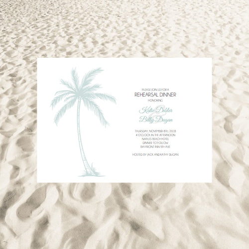 Copy of Paradise in the Palms Rehearsal Invites - Mint