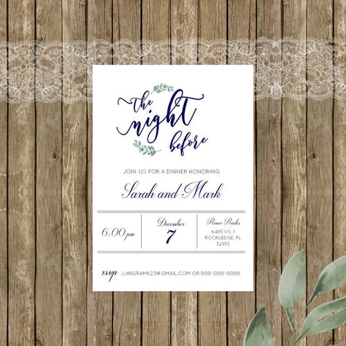 Rustic Elegance Rehearsal Dinner Invitations