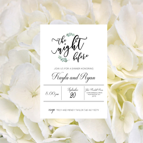 Simply Elegant Rehearsal Dinner Invitations