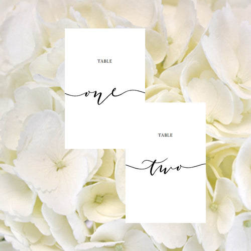 Wedding Table Numbers / Black and White