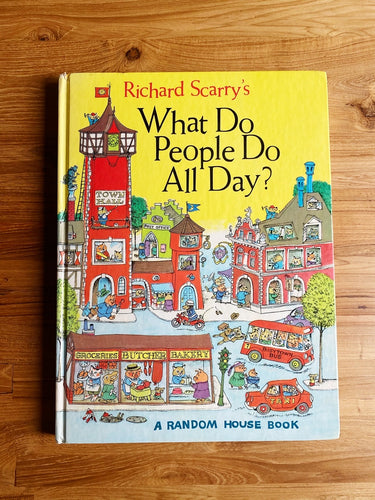 Vintage 1968 Richard Scarry's What Do People Do All Day? | *Rare Item*