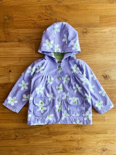 Hatley Purple Flower Baby Raincoat | 1y