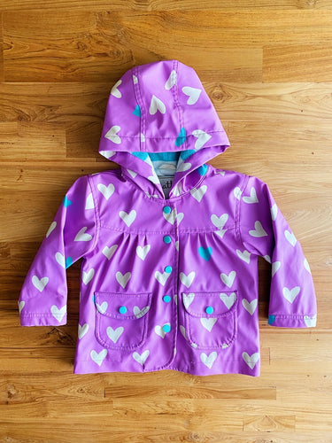 Hatley Lovely Hearts Baby Raincoat | 12m